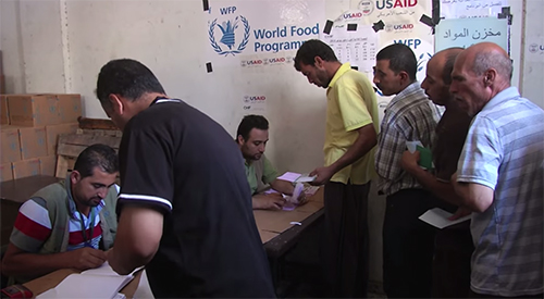 WFP Delivers Food To Desperate Families In Gaza